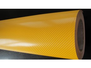 152cm x 20m ŽLUTÁ CARBON FOLIE 4D - KARBON FOLIE