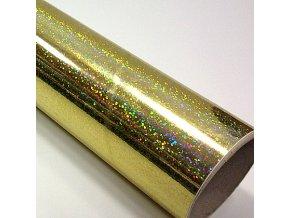 fantasy sequins gold zlata folie s holografickym efektem 001