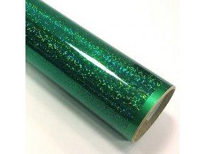 fantasy sequins tmave zelena folie s holografickym efektem 001