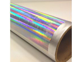 fantasy rainbow silver stribrna zrcadlova folie 001
