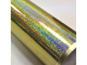 fantasy holo gliter gold zlata folie 001
