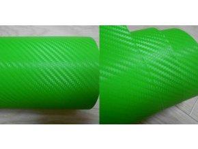 100cm x 50cm ZELENÁ CARBON FOLIE 3D - KARBON FOLIE