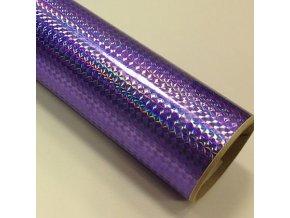 fantasy 1 4 mosaic violet fialkova folie s holografickym efektem 001