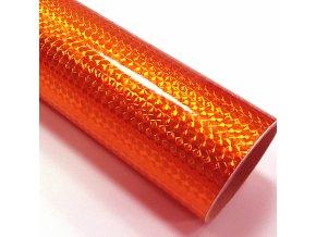 fantasy 1 4 mosaic fluorescent orange fluorescentni folie oranzova s holografickym efektem 001