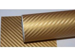 152cm x 1.5m ZLATÁ CARBON FOLIE 3D - KARBON FOLIE