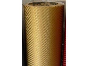 152cm x 3.5m ZLATÁ CARBON FOLIE 3D - KARBON FOLIE