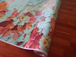 3d folie imitace rezaveho plechu rusty camouflage vinyl car body film typ01 019