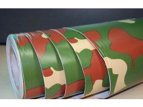 25cm x 25cm CAMOUFLAGE FOLIE 3D ZELENÁ tvarovatelná