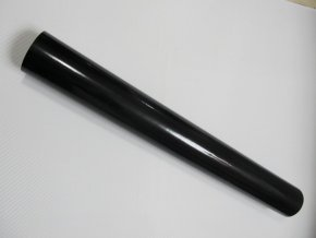 135cm x 9m ČERNÁ EXTRA LESKLÁ FOLIE 3D NA STŘECHU s kanálky v lepidle