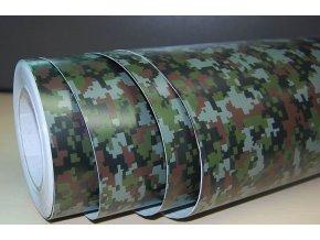 25cm x 25cm CAMOUFLAGE FOLIE 3D ARMY tvarovatelná