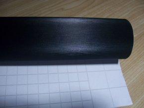 25cm x 25cm BROUŠENÝ KOV ČERNÝ FOLIE 3D tvarovatelná