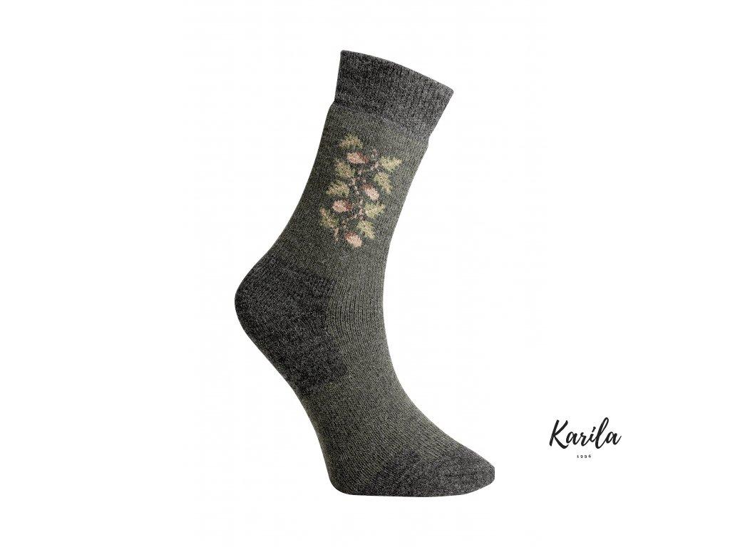 Ponožky thermo z ovčí vlny - žalud