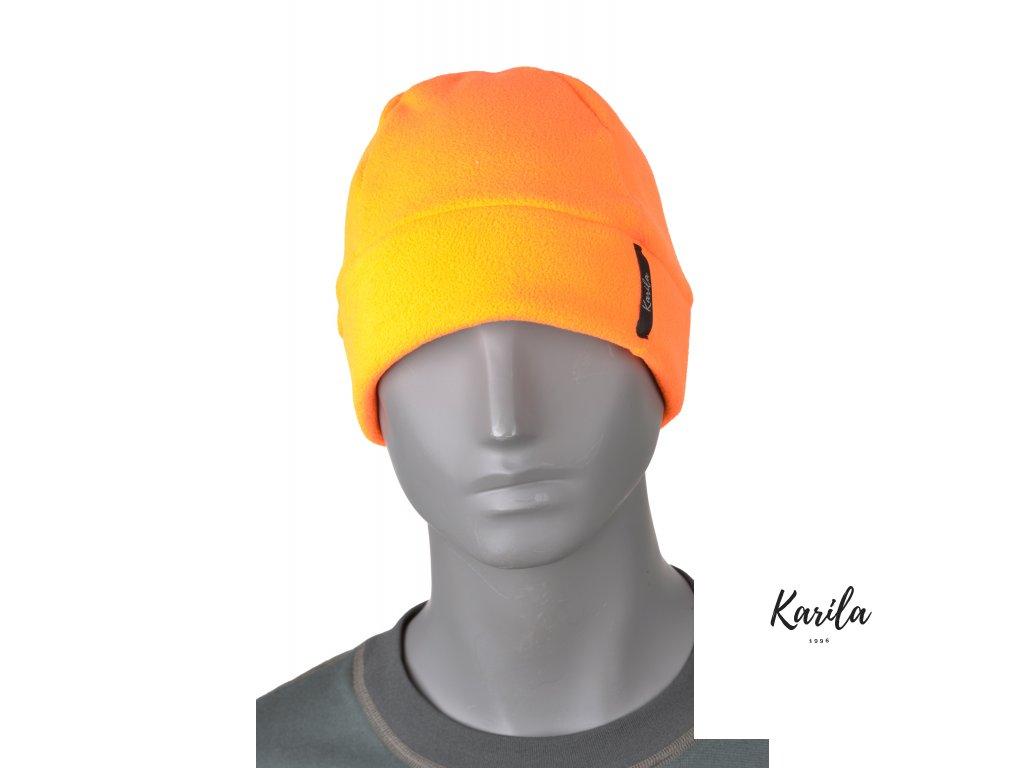 Fleece čepice oranžová