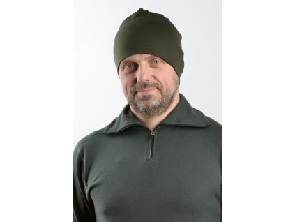 Čepice Merino zelená