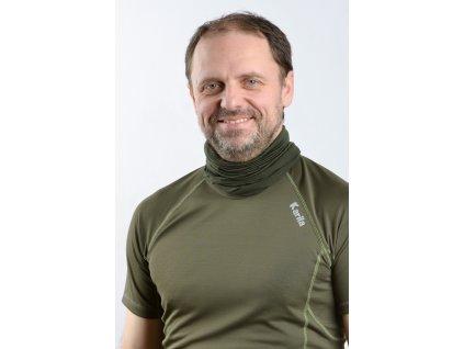 Merino Nákrčník zelený