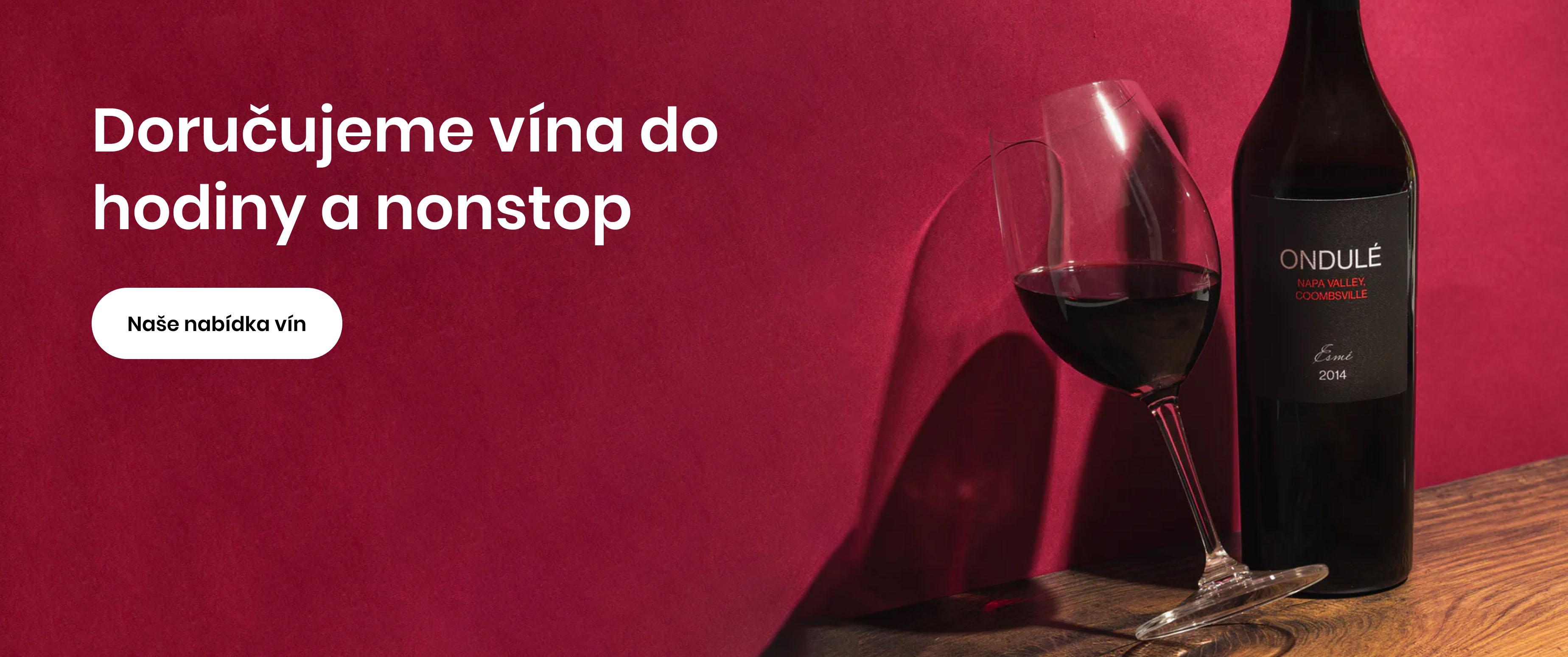 Doručujeme vína do hodiny a nonstop