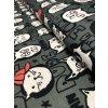 Bavlněná teplákovina crazy kočky