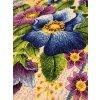 Vaflovina modrý makový květ