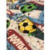 Bavlněná látka barevné fotbalové míče