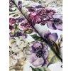 Režná látka barevné a výrazné květy