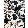 Bavlněná teplákovina černobílý Mickey