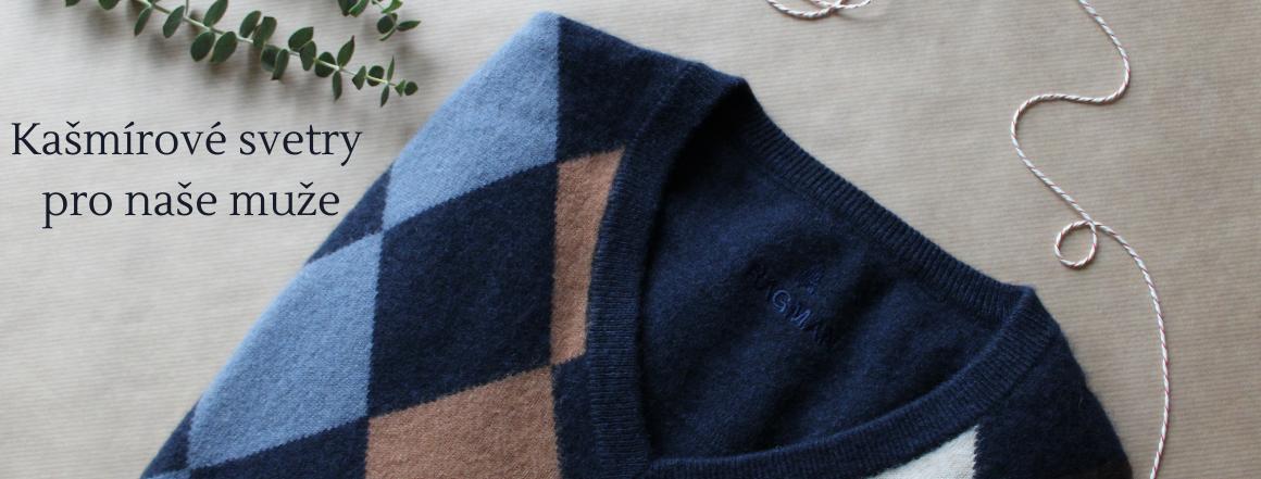 Pánské kašmírové svetry