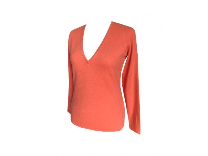 oranzovy kasmirovy svetr