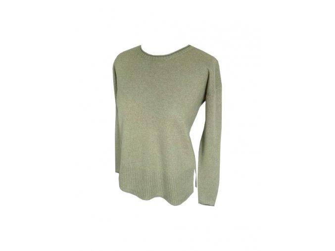 khaki kasmirovy svetr
