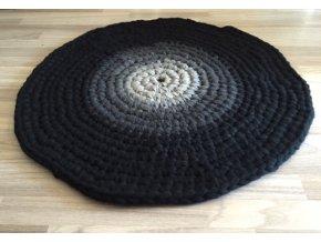 Ručně háčkovaný kašmírový koberec, průměr 86 cm