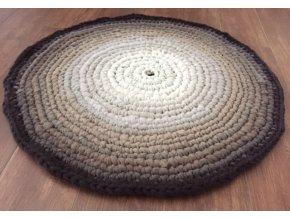 Ručně háčkovaný kašmírový koberec, průměr 100 cm