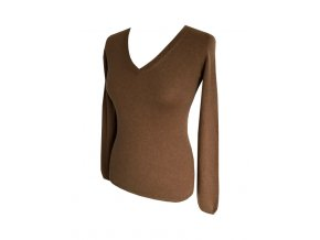 hnedy kasmirovy svetr