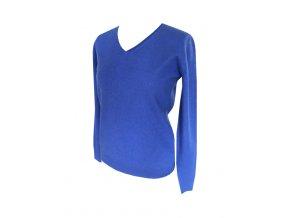 modry kasmirovy svetr