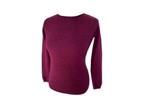 bordo kasmirovy svetr