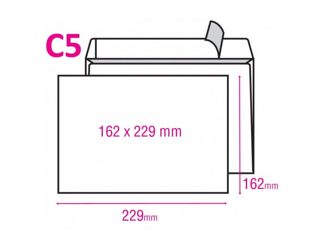 Obálka C5 s krycí páskou