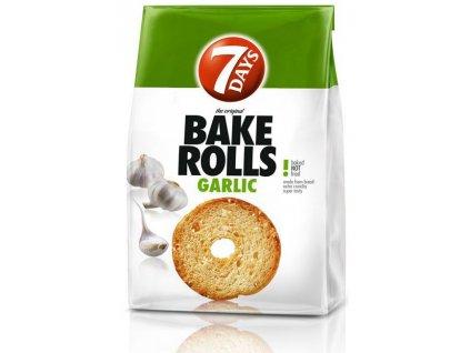 Bake Rolls 7days česnek 80g