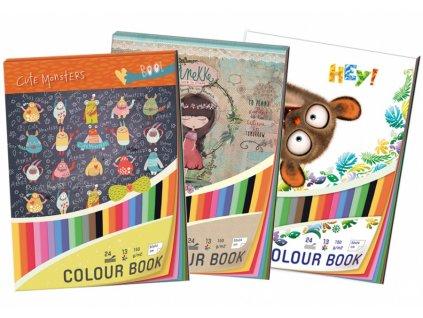 Barevné papíry A4 150g 24 listů