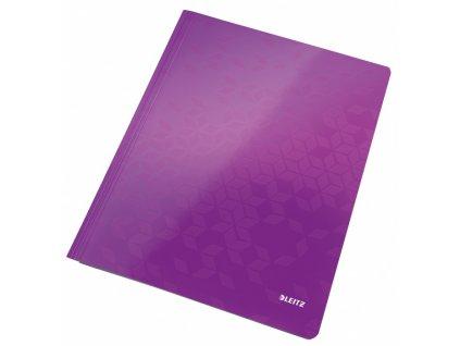 Desky s rychlovazačem Leitz WOW fialové