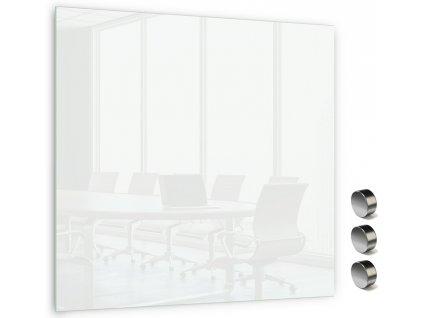 Skleněná magnetická tabule Memoboards 45x45cm bílá