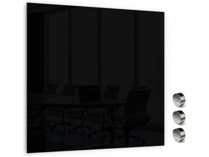 Skleněná magnetická tabule Memoboards 45x45cm černá
