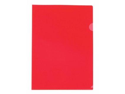 """Obal ,,L"""" PVC barevný transparentní A4 červený"""