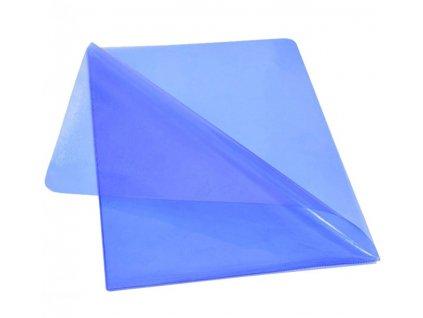 """Obal ,,L"""" PVC barevný transparentní A4 modrý"""