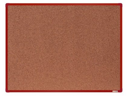 Korková tabule BoardOK 120x90cm červená
