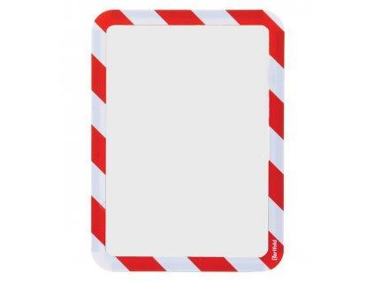 Kapsa magnetická bezpečnostní signální A4 červeno-bílá