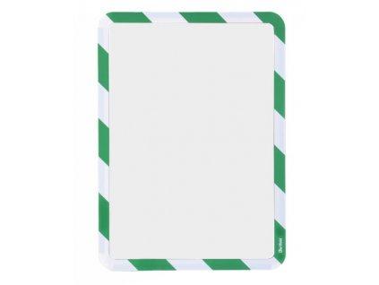 Kapsa magnetická bezpečnostní signální A4 zeleno-b
