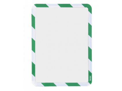 Kapsa magnetická bezpečnostní signální A4 zeleno-bílá