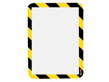Kapsa samolepicí bezpečnostní signální A4 žluto-če