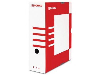 Archivační krabice Donau papírová 120mm červená