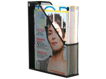 Drátěný stojan na časopisy černý