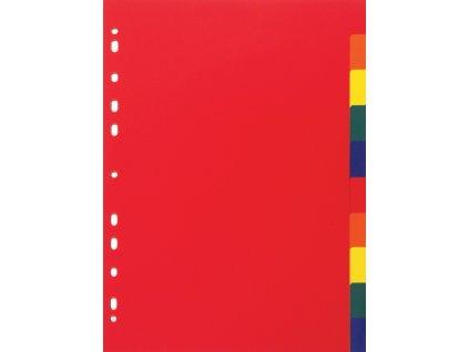Plastový rozlišovač ceobarevný A4 10 listů