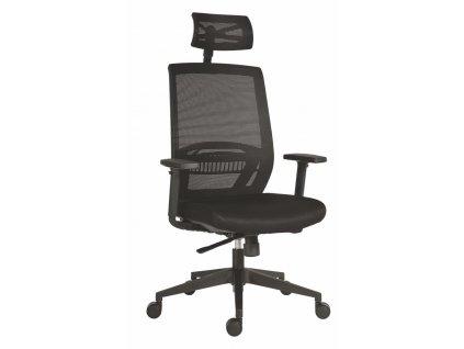 Kancelářská židle ABOVE černá síťovina